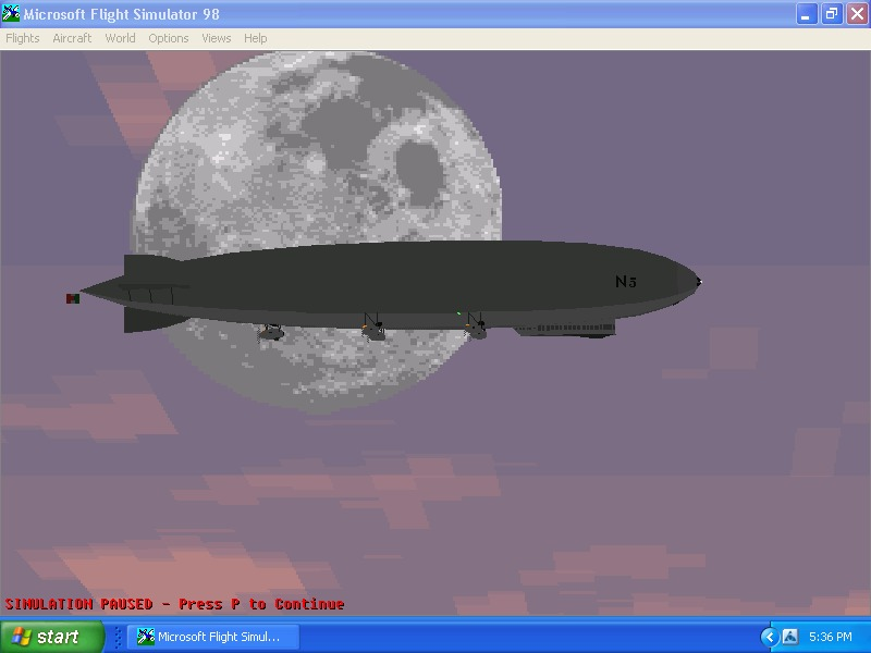 finally something different and cool.got this from fs.com.its an italian airship over dulles.only problem,its so freakin big I can't see the whole thing in spot veiw.its cool even for fs98 - Photo 4215