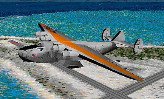 another groovy flying boat,im in love with these things.i stole the sound files from the memphis belle because thesound file didnt work. plus i love the sound of those old radials - Photo 4552