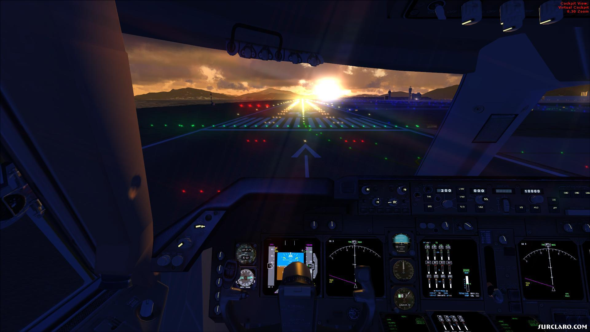 Flight Simulator X Wallpaper: Flight Simulator X Hong Kong Sunrise (17302) SurClaro Photos