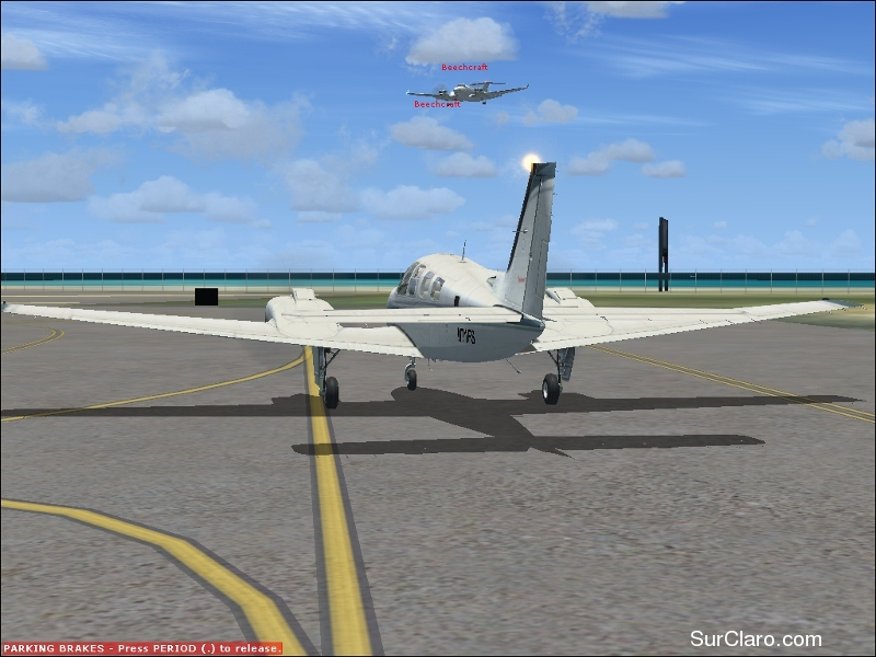 this is a picture of a king air landing - Photo 18384