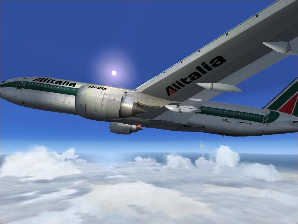 B777 Alitalia climb to FL250 on route from Rome to Jerusalem - Photo 16829