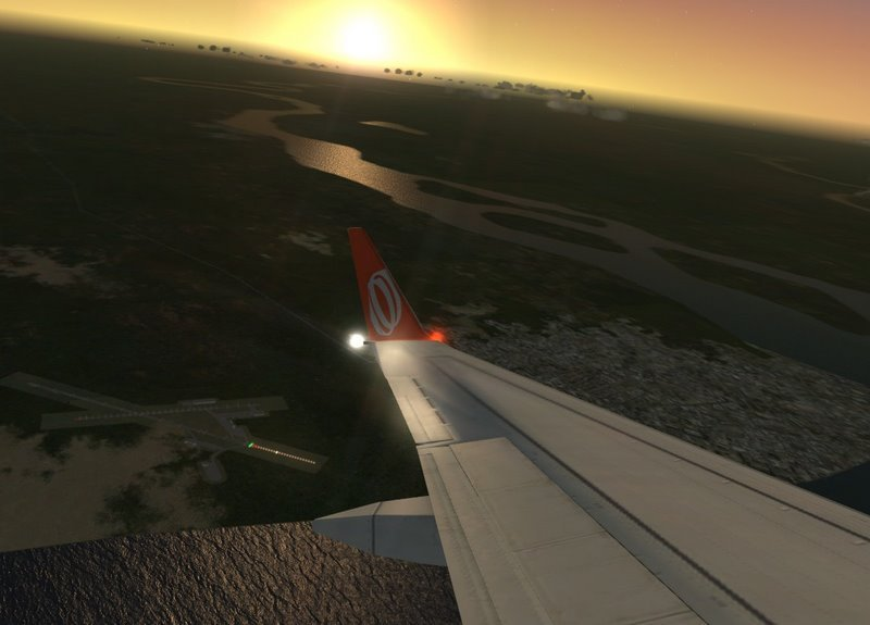 Takeoff from BEL�M DO PAR� - BRAZIL, in the Boeing 737-800 air manufacture GOL Linhas A�reas. - Photo 16870