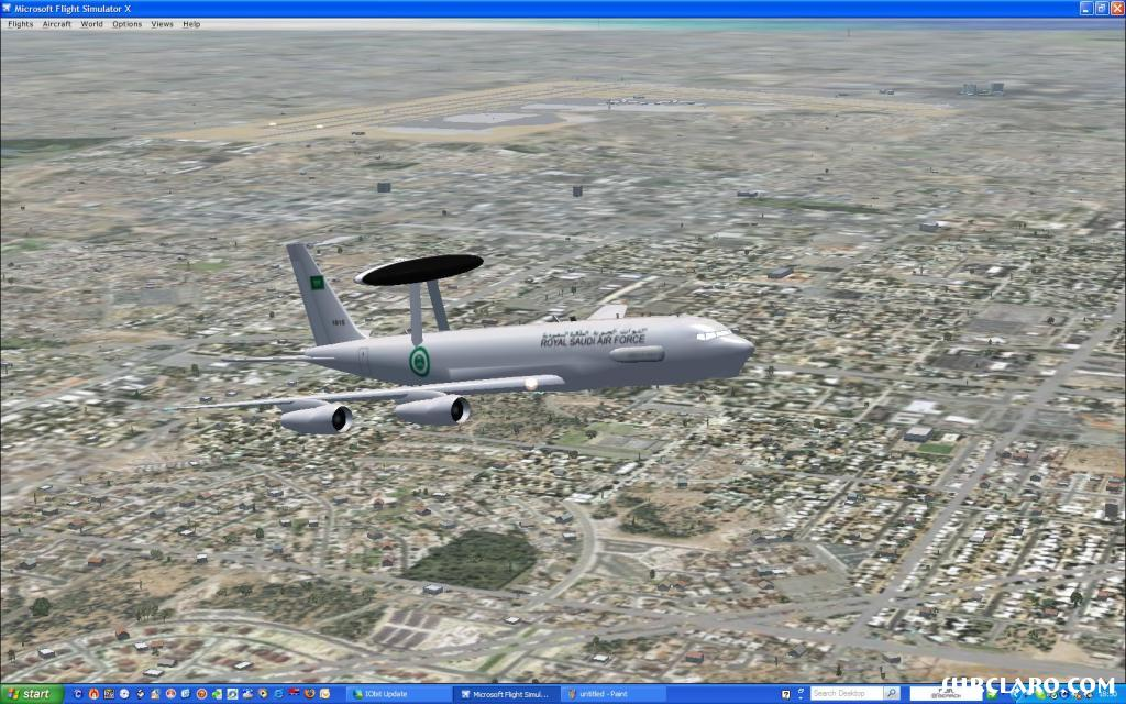 Saudi Air Force Awacs departing KLAS for Groom Lake - Photo 16979