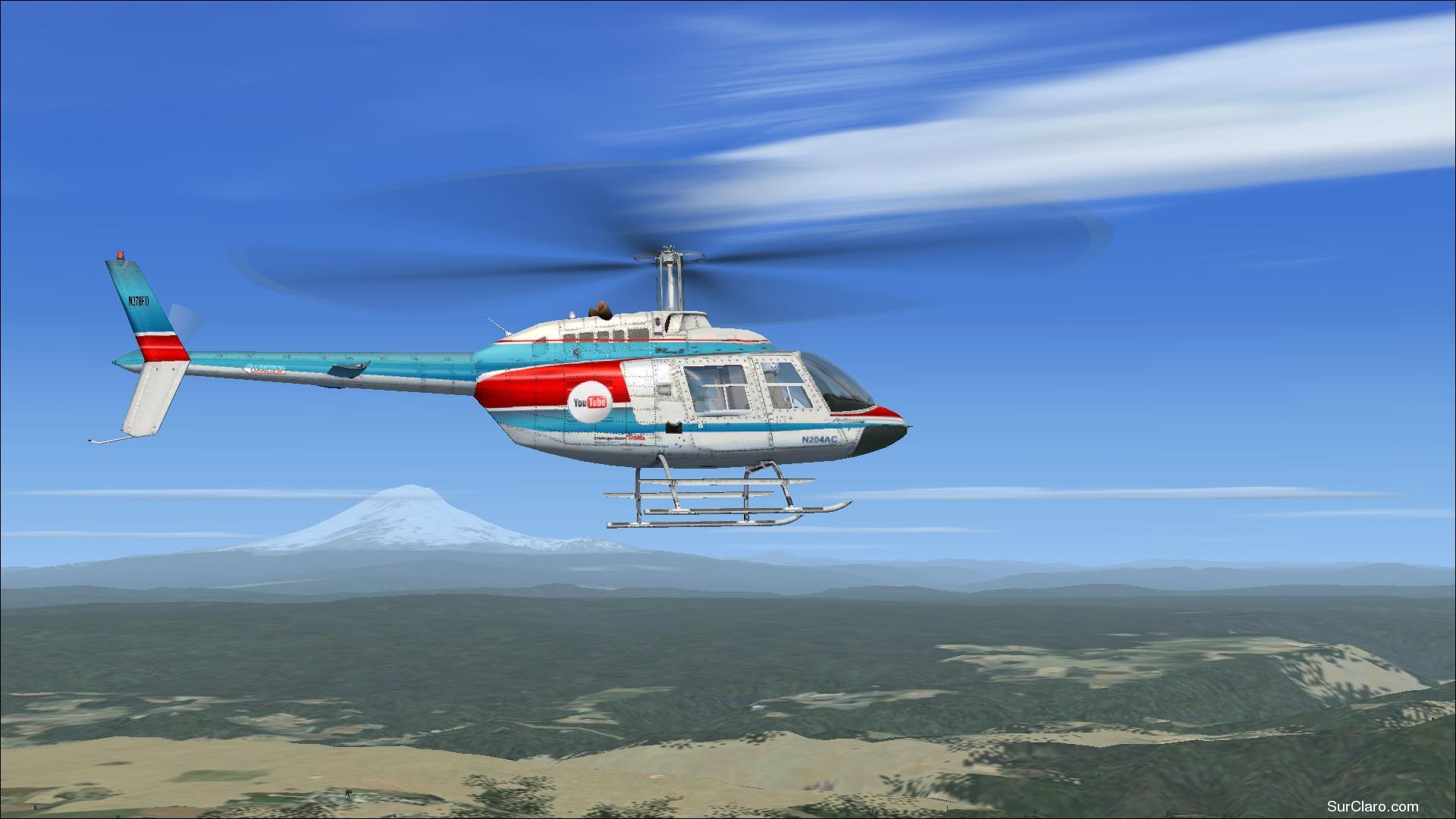 The 1st Official YOU TUBE Chopper (Bell206 B), You Tube on the prowl and making Video's in Flight Simulator FSX.  - Photo 18438