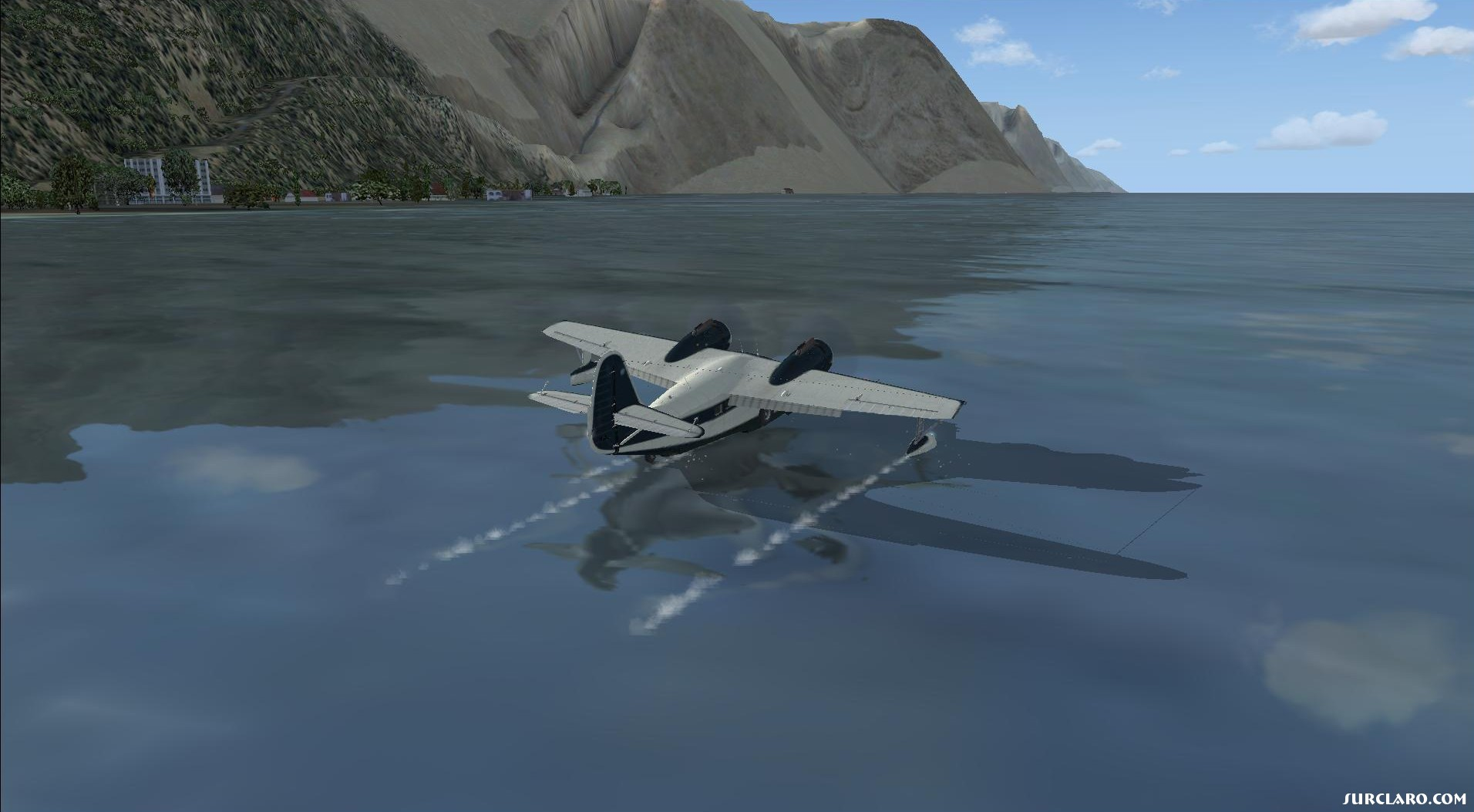 Landing in water in front of Tocopilla Chile in Grumman Goose part 3. - Photo 18141