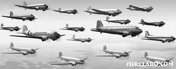 A huge group of DC-3's, amazing how they all fly so close together. lol - Photo 7744