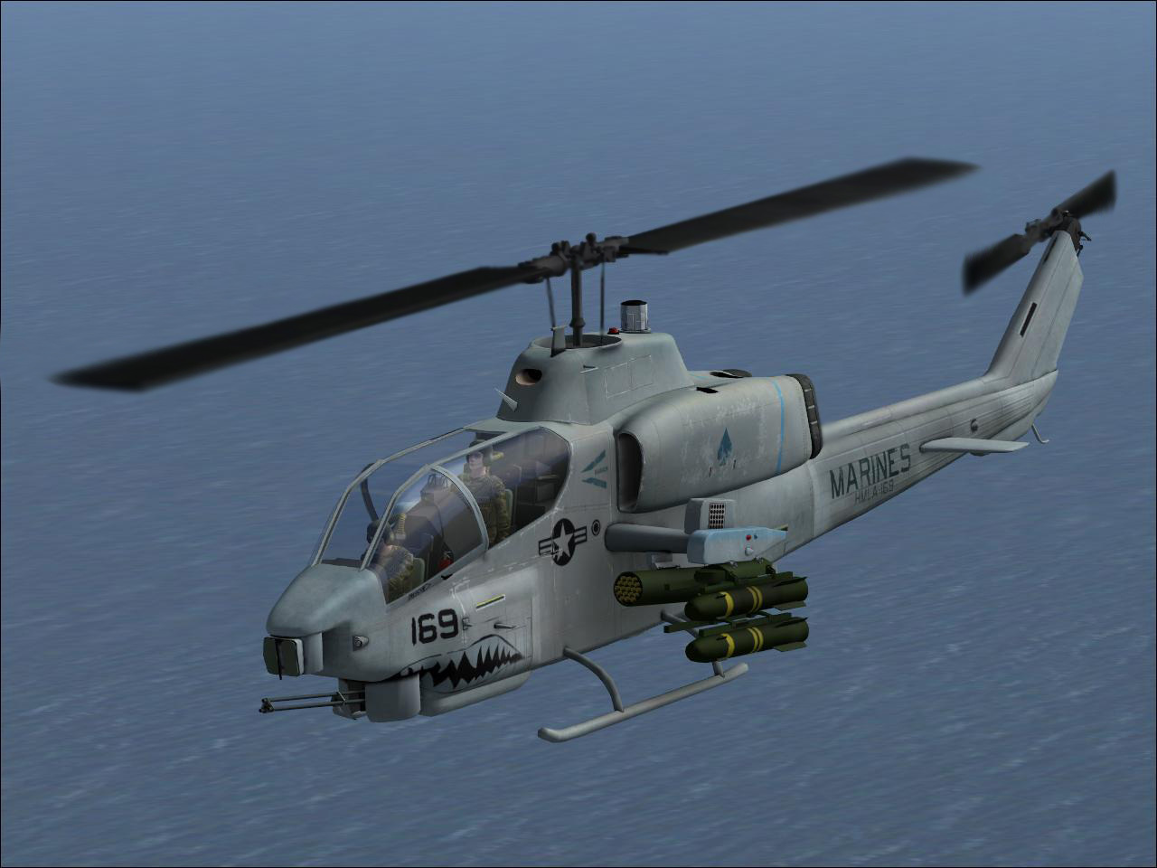 AH-1W Super Cobra above Hawaii - Photo 16632