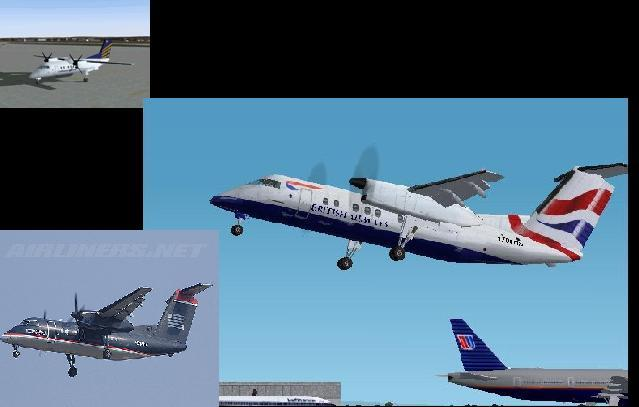Default Dash 8-100. For AI Traffic only. It is the default Dash 8-100. The included Orbit, American Pacific, and Airwave. This one has British Airways, U.S. Airways Express, and Lufthansa Regional. Enjoy! - Photo 16638