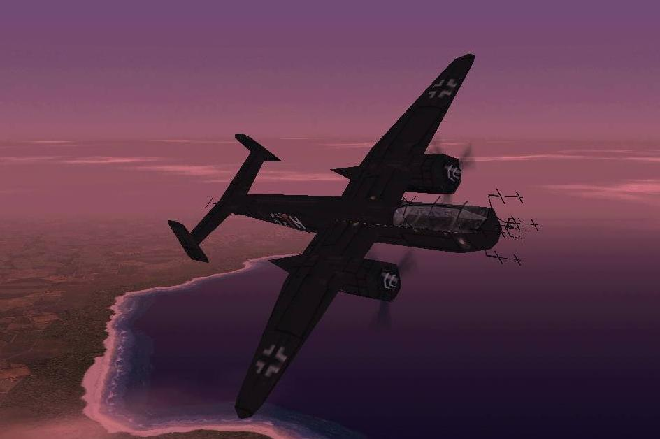 My nighthunter in European air war:
