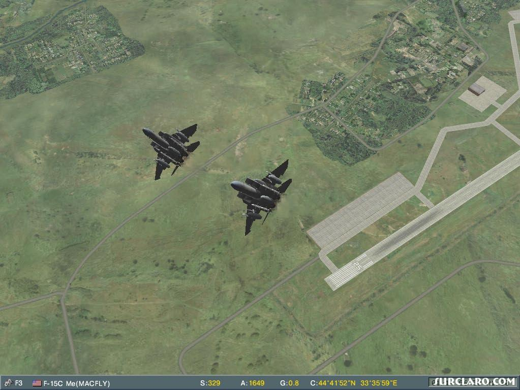 Two F15 climbing to the heights - Photo 16502