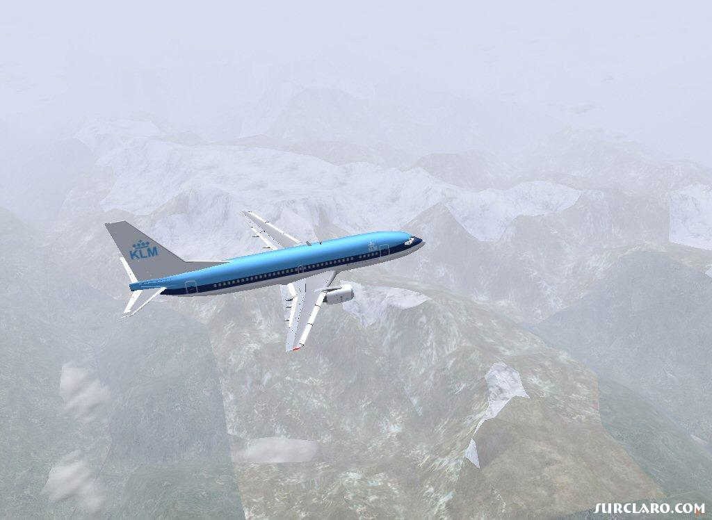 and my dutch friend has a self made KLM plane, pic is made above the alps, for those who want to know; this is a screenshot of flightgear (www.flightgear.org) - Photo 15861