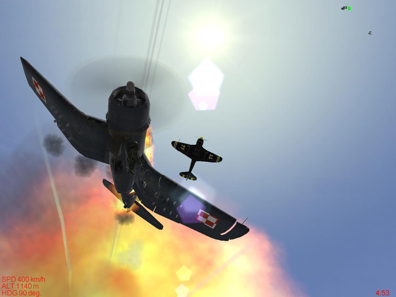 Me in my La-7 against a F-4U Corsair, Filled the guy with bullets till the F-4U explode ... this all done in IL2 Sturmovik - Photo 16682