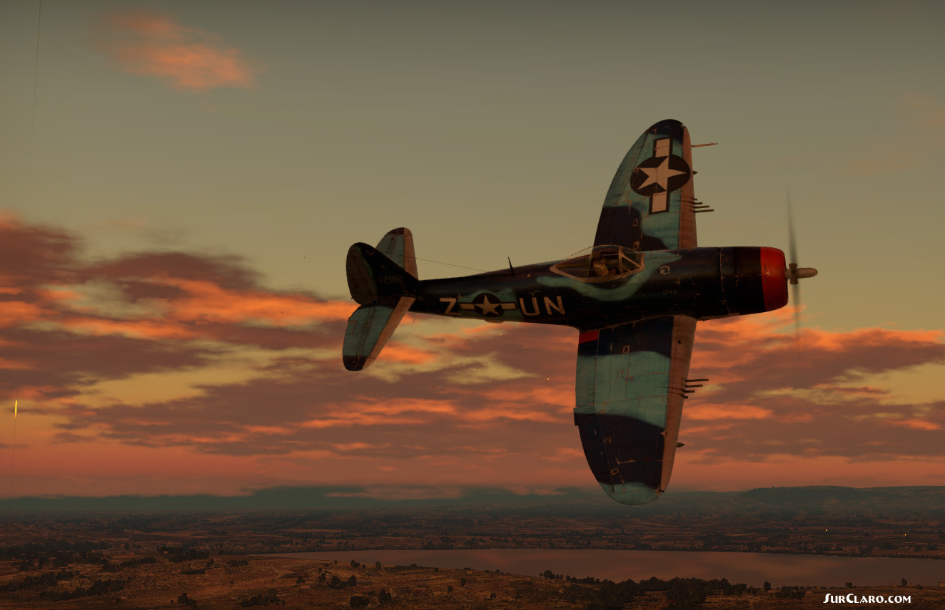 The Thunderbold P47 M RE1 in action over Sicily in sunset hour - Photo 18828