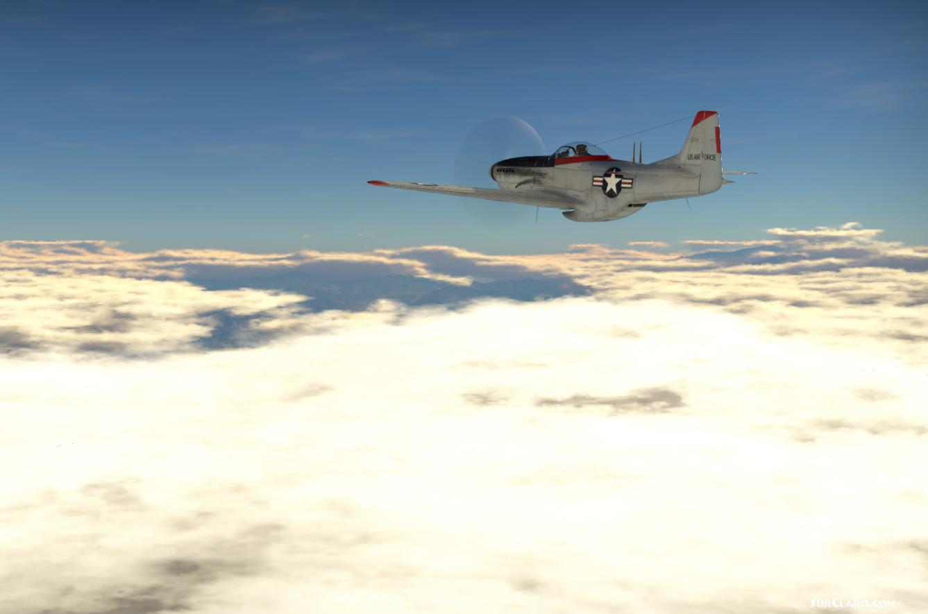 P51 Over Norway skies at 5 Kms scoping enemies - Photo 18831