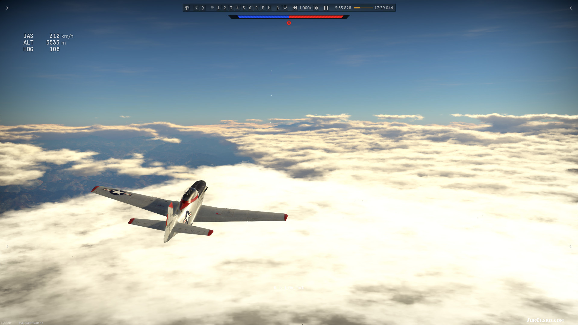 P51 over Norway image with full War Thunder game elements as it is, no edition - Photo 18832
