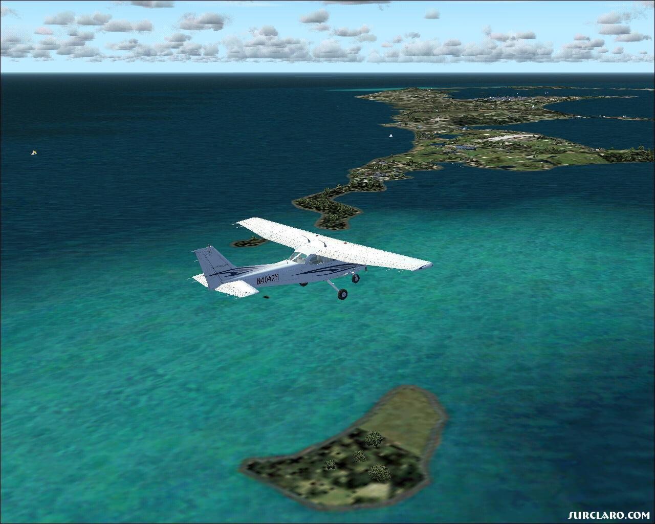 Flying around the Bermuda Islands. - Photo 11112