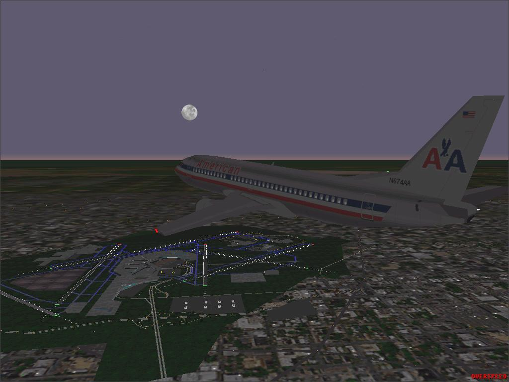 AA B737-300 over Chicago - Photo 1243