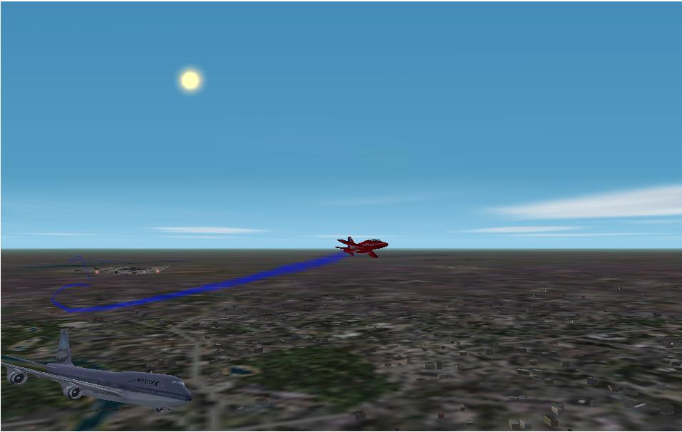 Got bored with flyin in formaton with Jets so I decided to Fly with an Airliner!!  - Photo 1160