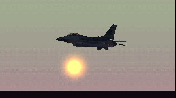 Flying in my F16 into the sunset - Photo 1261