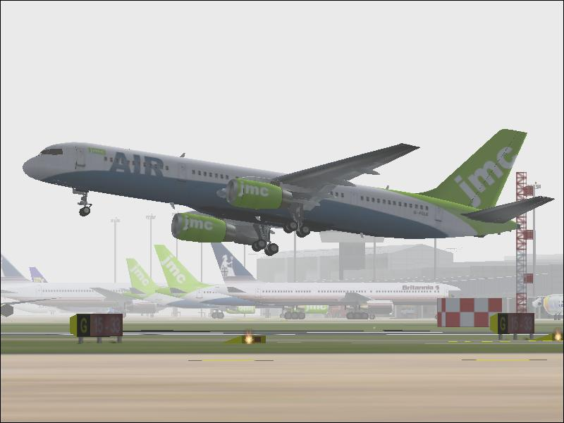 Rotating off runway 33 at EGBB (Birmingham) with a crosswind. - Photo 754