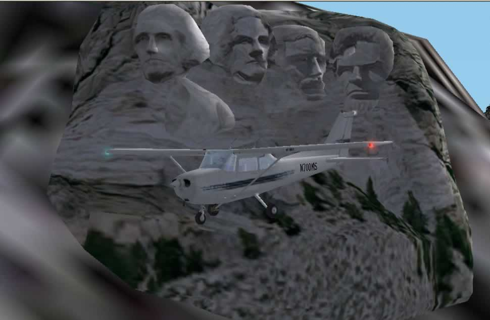 with a cessna passing Mt Rushmore - Photo 786