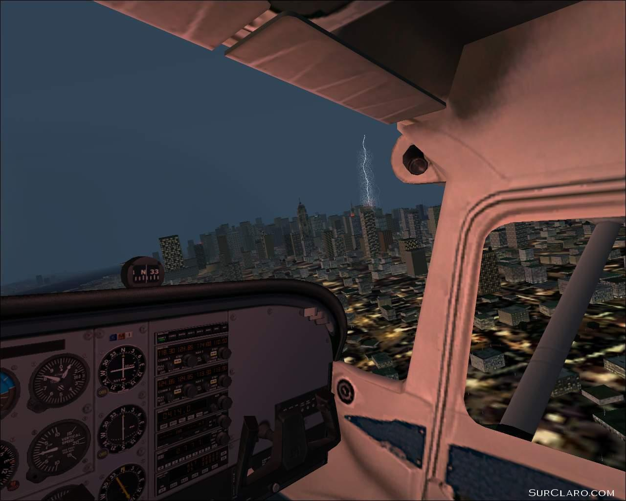 Cessna looking towards Empire State Building, one-off lightning strike! - Photo 491
