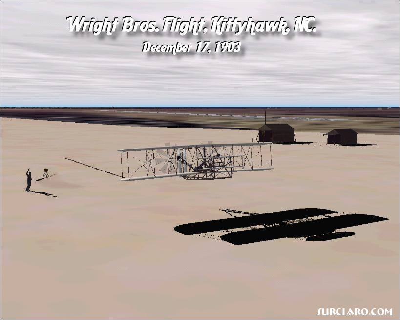 Wright Brother's first flight, December 17th, 1903 - Photo 2858