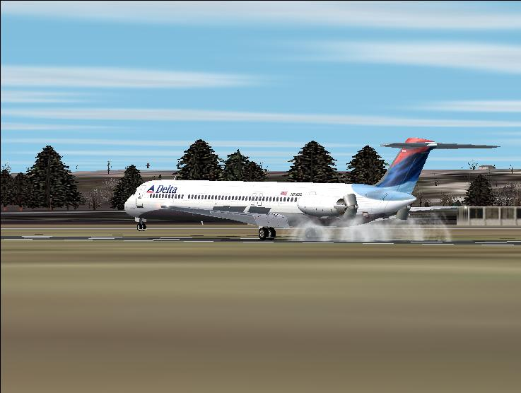 Delta Super 80 taking off out of Orange Mun. Massachussets. - Photo 3286