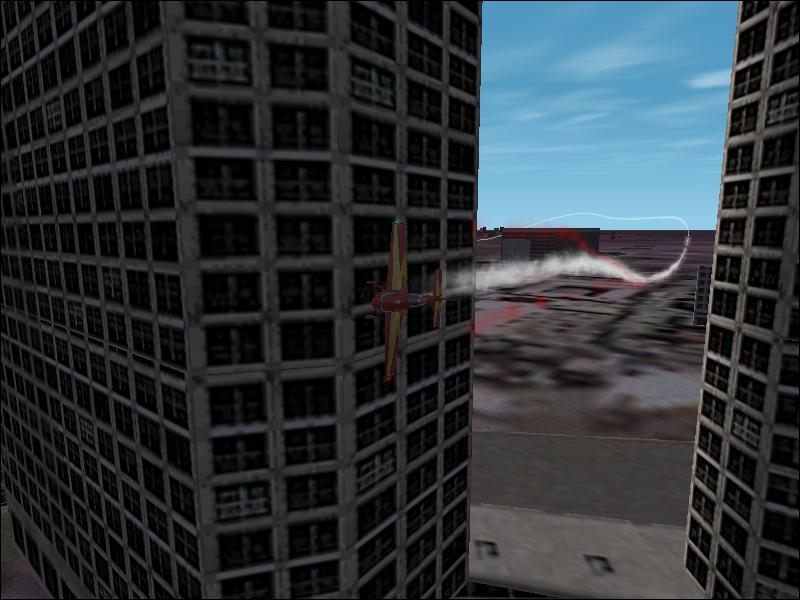 Flying a Extra300XS right through the middle of 2 towers! - Photo 1561