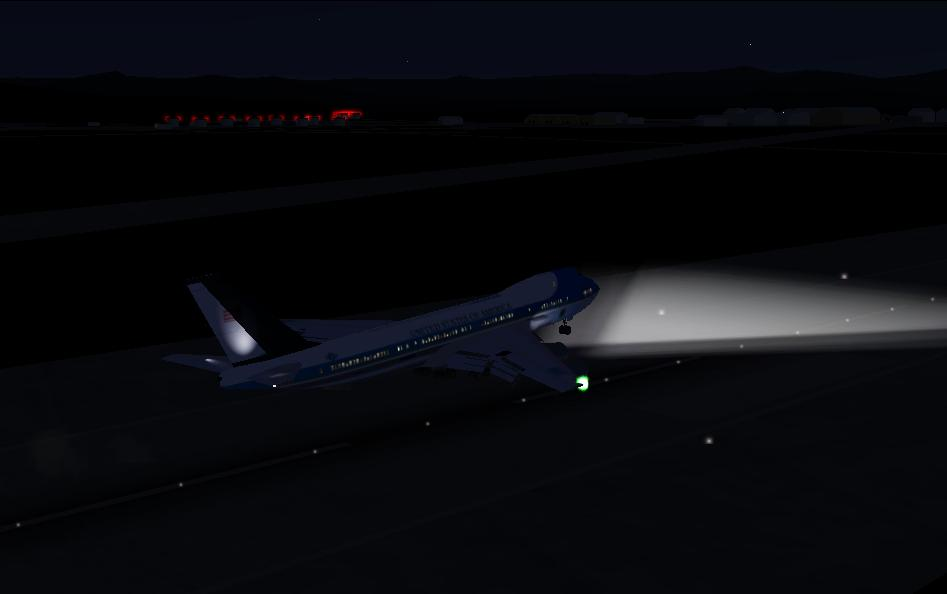 Air Force one lands at Groom Lake at the dead of night - Photo 1765