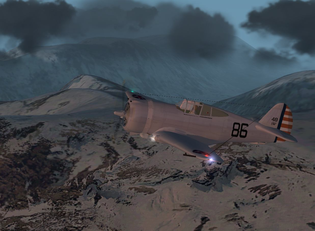 Curtis p-36a over the alps - Photo 1562