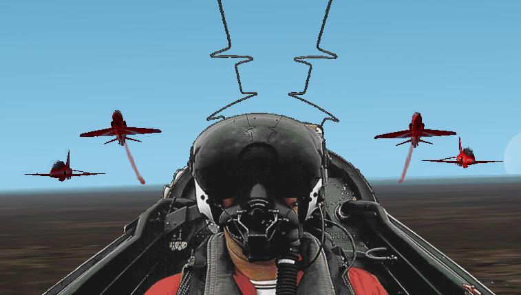 The Red Arrows in a move called the 'Rollbacks', Only true red arrows fan will like this picture!