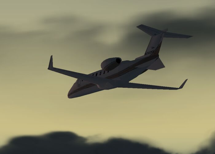 One of my favorite Biz Jets, the Learjet 45. - Photo 1754