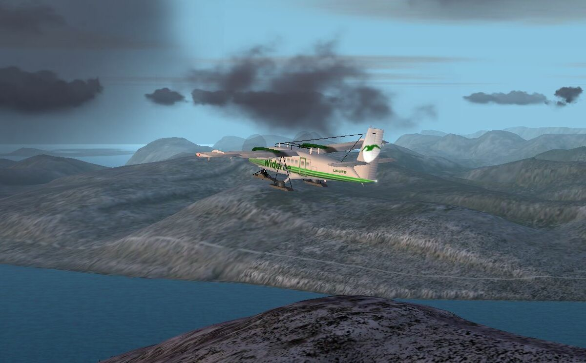 Evening flight near Tromso, Norway. Using Tromso Gaia Mesh Scenery. Really nice scenery add on! - Photo 1563