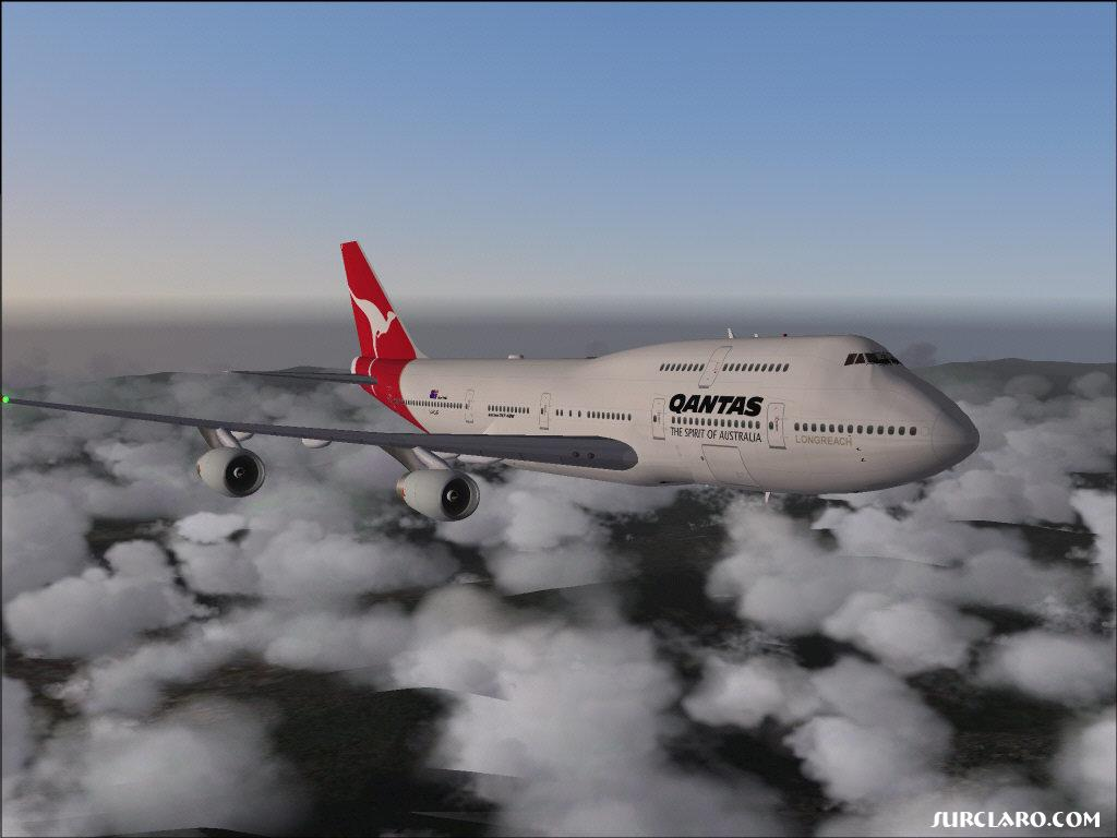 Meljet,Quantas 747, City of Perth over northern Thailand. Enjoy (-; - Photo 3502