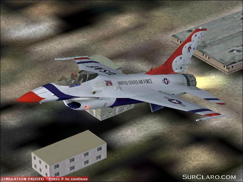 Fs2002 Beautifull afterburner in F-16 thunderbirb livery - Photo 3565