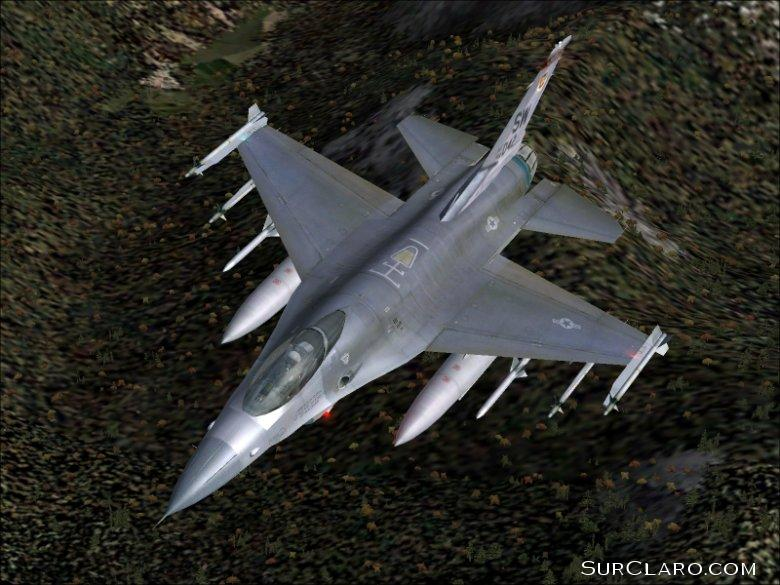 (Fs2004)F-16 over the Scottish Highlands. - Photo 3542
