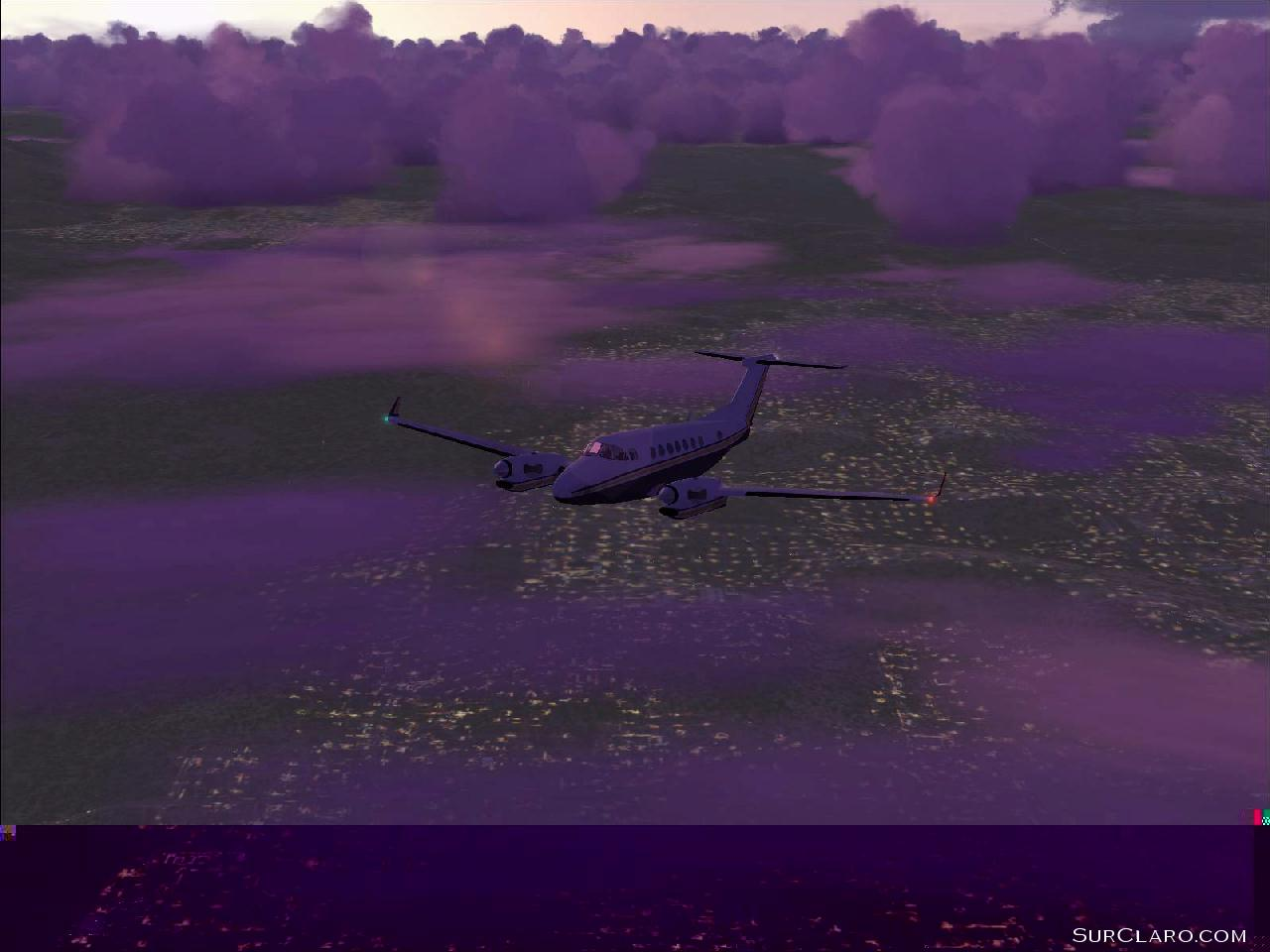 King Air flying from Oxnard to Santa Barbara, California at dawn. (FS2004) - Photo 3547