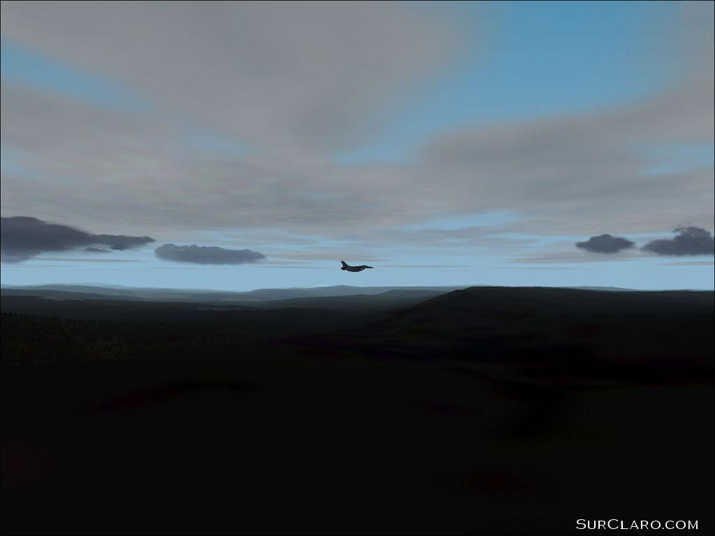 F-16 (Lago) all alone in the sky over Norway. (FS2002) - Photo 3558