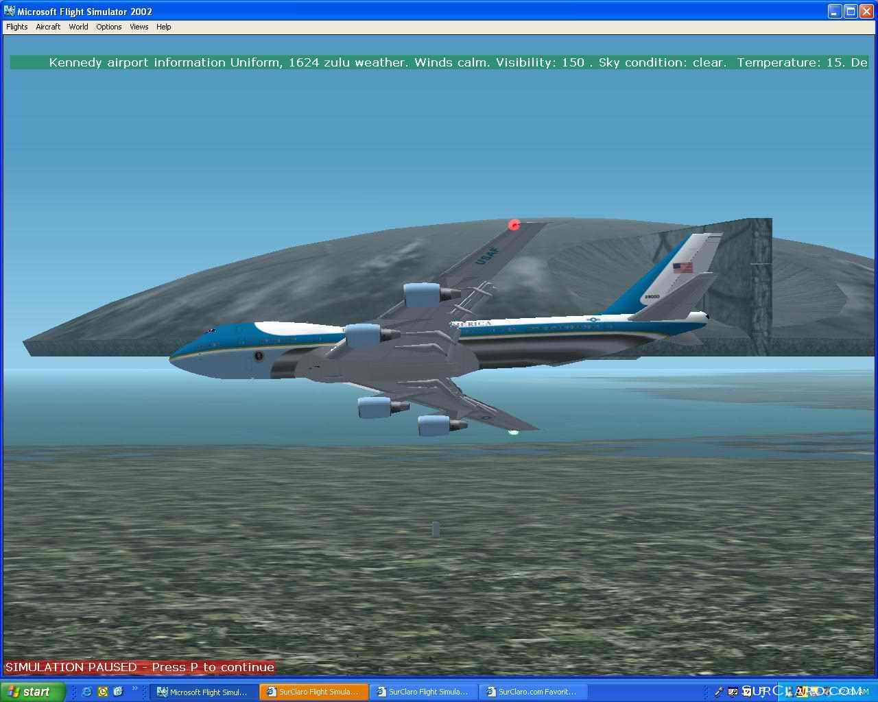 From Fs2002, Airforce 1 Escaping The alien City destroyer. - Photo 3211