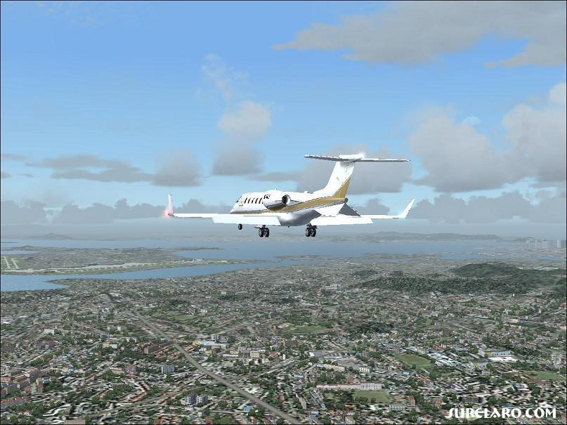Approach into Galeao-Antonia Intl in Rio De Janeiro, Brazil.  The ground scenary detail is awesome in FS2004! - Photo 3302