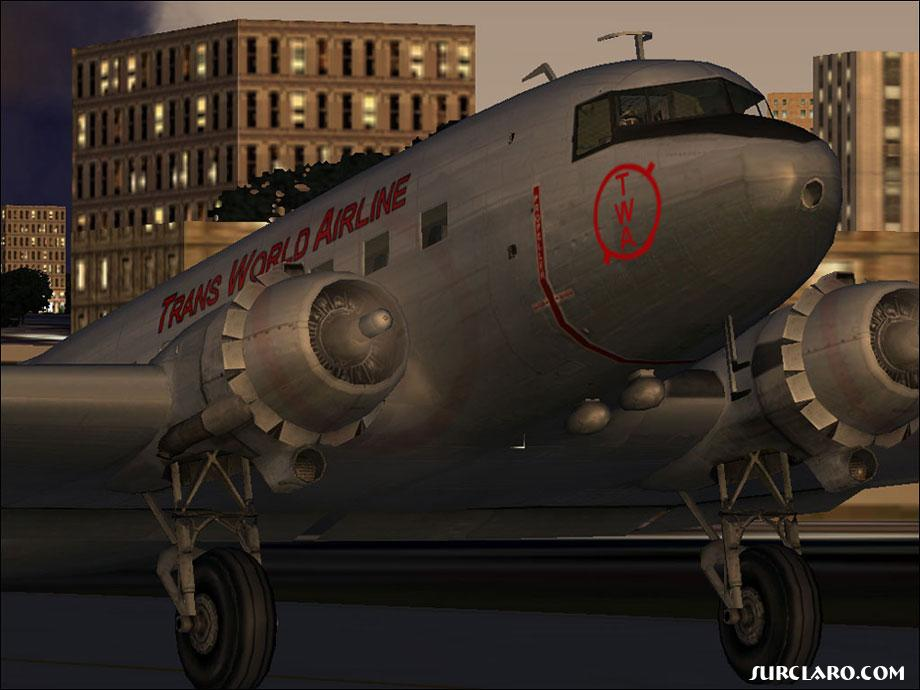(FS2004) A repaint of the orginal DC-3 in TWA colors. Looks good.  - Photo 3519