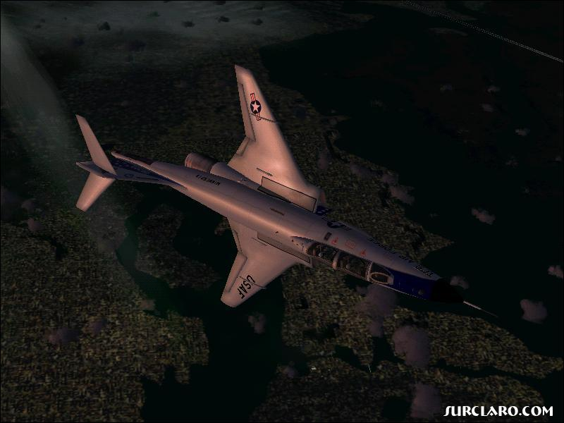 Voodoo's aren't supposed to fly at 90,000 ft. Only in flight sim. (Fs2004) - Photo 3506