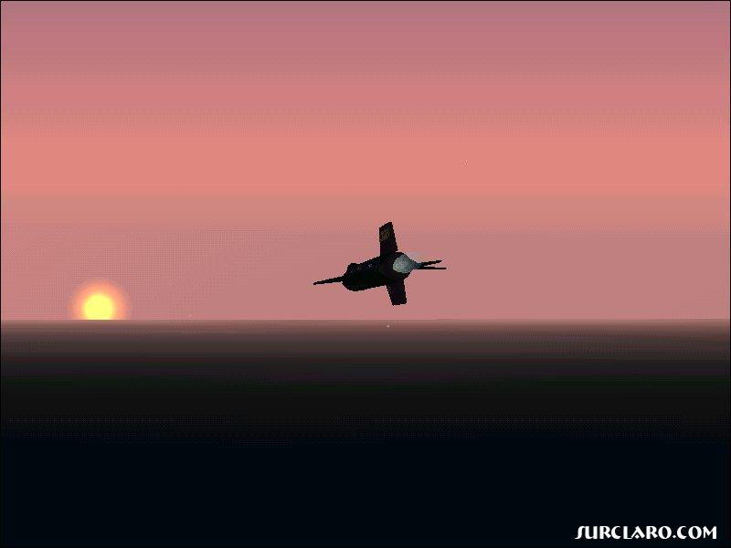 A North American X-15 heads into the setting sun at Mach 5 (FS2002) - Photo 3285