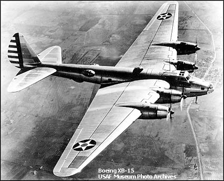 giant experimental bomber,designed before but built after the b17 prototype.too big for the engines available in 1937.look it up on google - Photo 4824