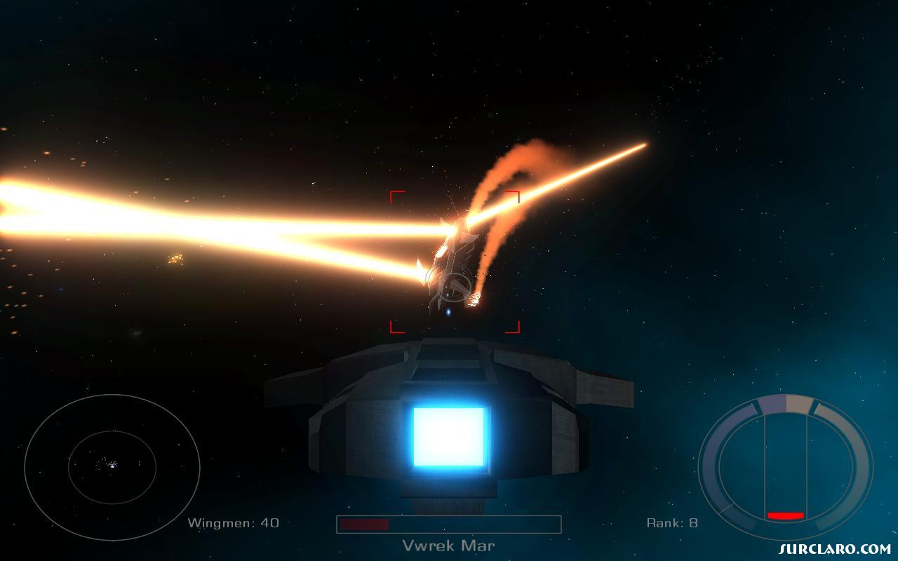 A dying enemy starship getting out the big guns and using its engines to fire lasers.  - Photo 15270