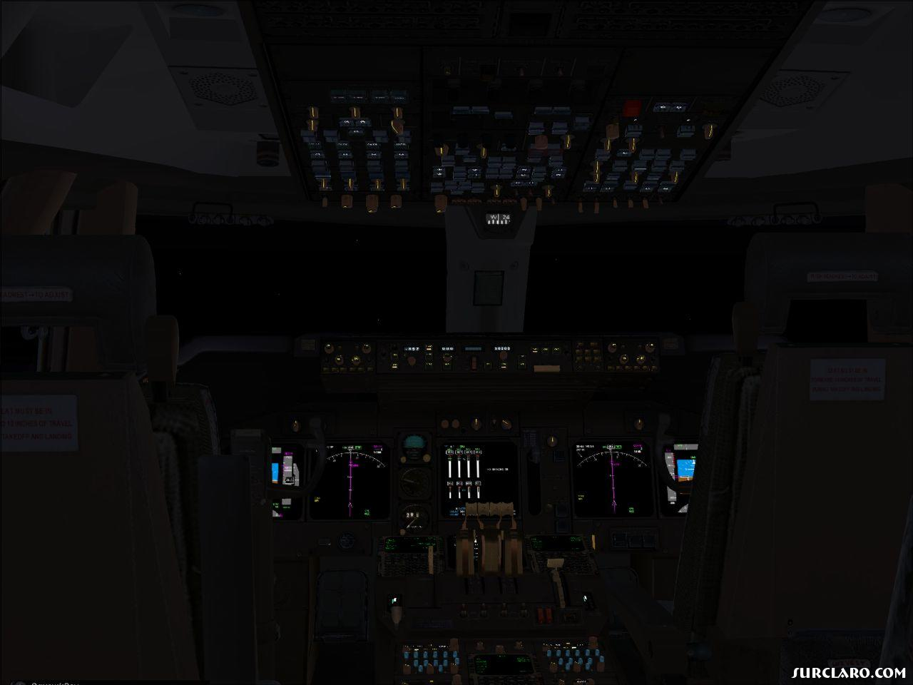 flight deck for the PMDG 747-400. - Photo 15097