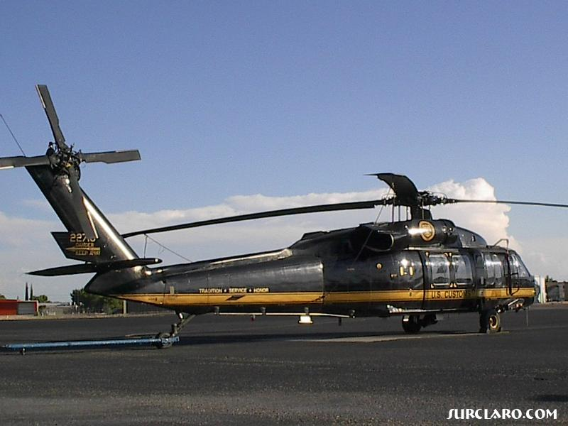 US Customs Helicopter parked at El Paso International Airport.   - Photo 157