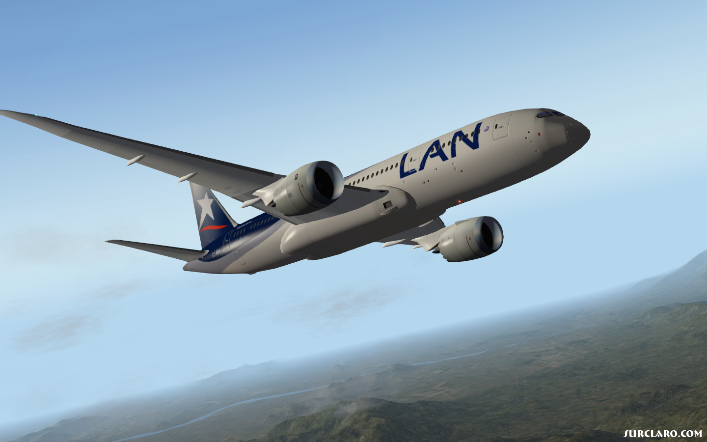 Ascending to cruise altitude just departed from SCEL X-Plane 10 - Photo 18738