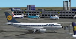 Fs2002 A310-203 Lufthansa Colors Gmax Airbus image 1